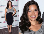 America Ferrera In Versace Collection - 'X/Y' Outfest Los Angeles Screening