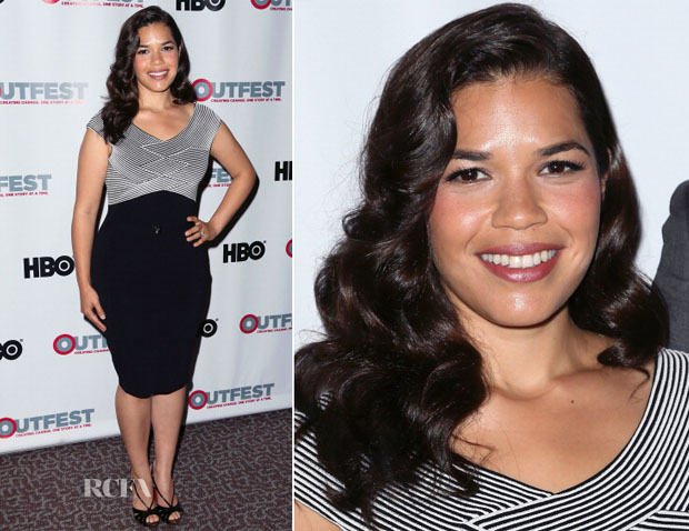America Ferrera In Versace Collection - 'XY' Outfest Los Angeles Screening