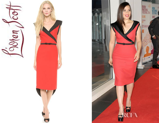 America Ferrera's L'Wren Scott Sleeveless Sheath Dress