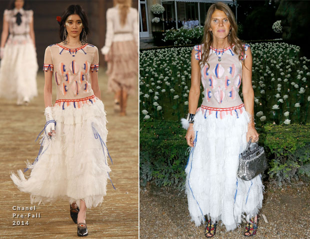 Anna Dello Russo In Chanel - Bulgari Cocktail Event
