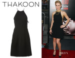 Anna Paquin's Thakoon Flared Tie-Fastening Dress