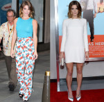 Ashley Greene In Carolina Herrera & Alexander McQueen - The Today Show & 'Wish I Was Here' New York Screening