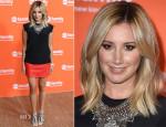 Ashley Tisdale In Mason & AllSaints - 2014 Television Critics Association Summer Press Tour