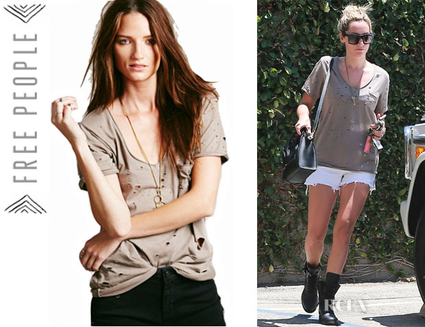 Ashley Tisdale's Free People 'Destroyed Tommy' Tee