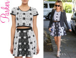 Ashley Tisdale's Parker 'Nina' Printed Crop-Top