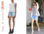 Ashley Tisdale's Rag & Bone/JEAN Boyfriend Rebel Distressed Shorts