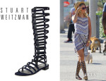 Ashley Tisdale's Stuart Weitzman Gladiator Tall Sandals