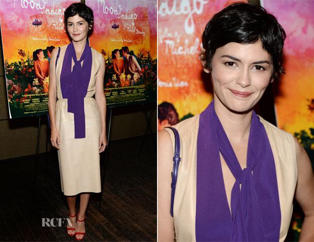Audrey Tautou In Prada - 'Mood Indigo' New York Premiere