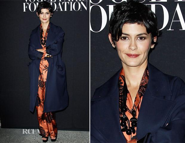 Audrey Tautou In Prada - Vogue Foundation Gala