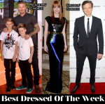Best Dressed Of The Week - Jessica Chastain In Mary Katrantzou, The Beckhams & Colin Firth In Dolce & Gabbana