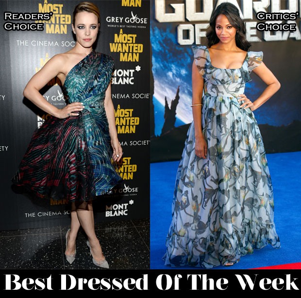 Best Dressed Of The Week - Rachel McAdams In Zuhair Murad Couture, Zoe Saldana In Valentino, Chris Hemsworth In Dolce & Gabbana & Chadwick Boseman In Giorgio Armani