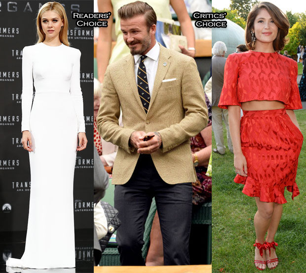 Best Dressed Of The Week Nicola Peltz In Stella McCartney, Gemma Arterton In Prabal Gurung & David Beckham Ralph Lauren
