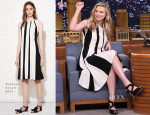 Brit Marling In Thakoon - Late Night Starring Jimmy Fallon