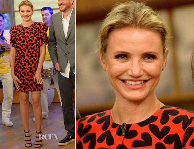 Cameron Diaz In Saint Laurent - Despierta America 2