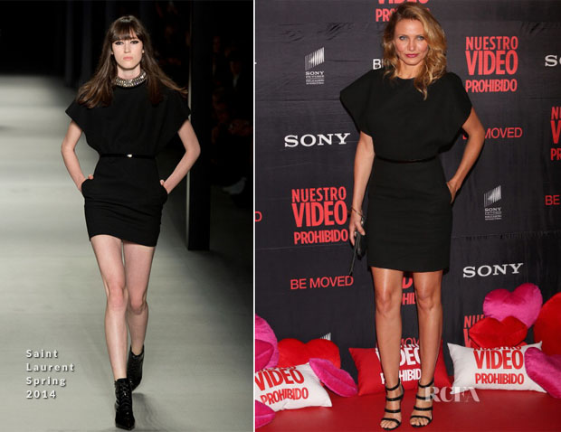 Cameron Diaz In Saint Laurent - 'Sex Tape' Mexico City Premiere