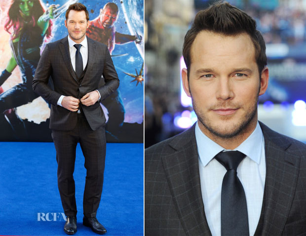 Chris Pratt In Ermenegildo Zegna - 'Guardians Of The Galaxy' London Premiere
