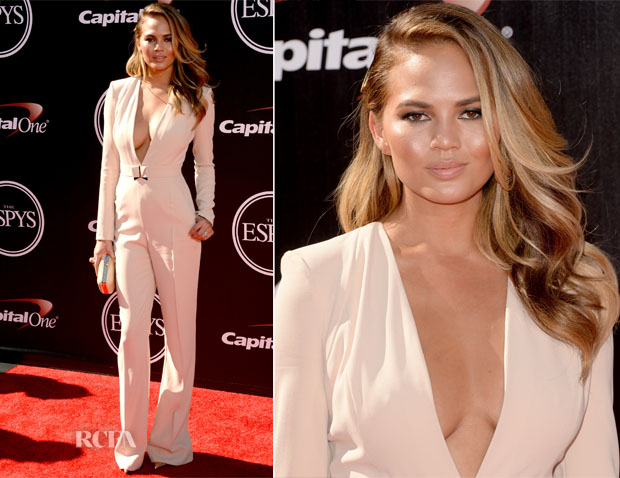 Chrissy Teigen In Elisabetta Franchi - 2014 ESPY Awards