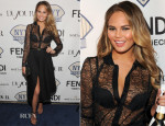 Chrissy Teigen In Saint Laurent & Stella McCartney - DuJour Magazine Cover Launch Party
