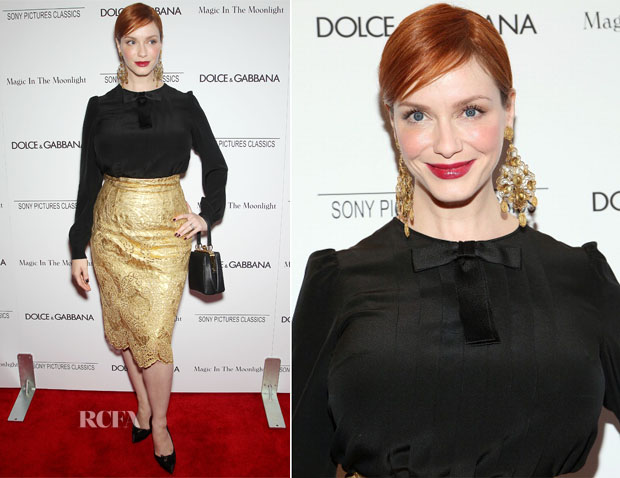 Christina Hendricks In Dolce & Gabbana - 'Magic In The Moonlight' New York Premiere