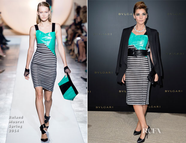Clotilde Courau In Roland Mouret - Bulgari Cocktail Event