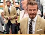 David Beckham In Ralph Lauren - Wimbledon Championships