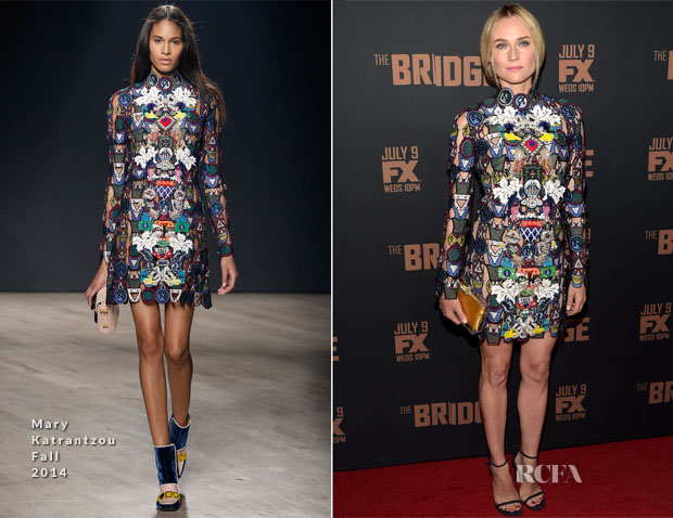 Diane Kruger In Mary Katrantzou - 'The Bridge' Season 2 Premiere
