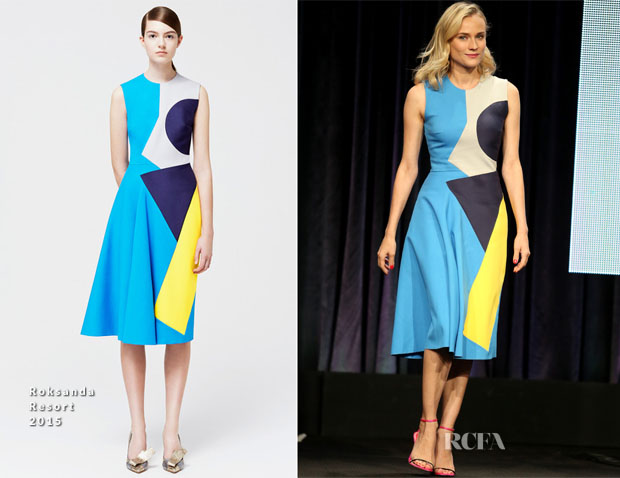 Diane Kruger In Roksanda - 'The Bridge' Panel 2014 Summer TCA Tour