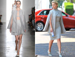 Dianna Agron In Carolina Herrera & Cushnie Et Ochs - On The Set Of 'Headlock'