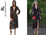 Donna Air's Burberry Prorsum Printed Silk Georgette Dress