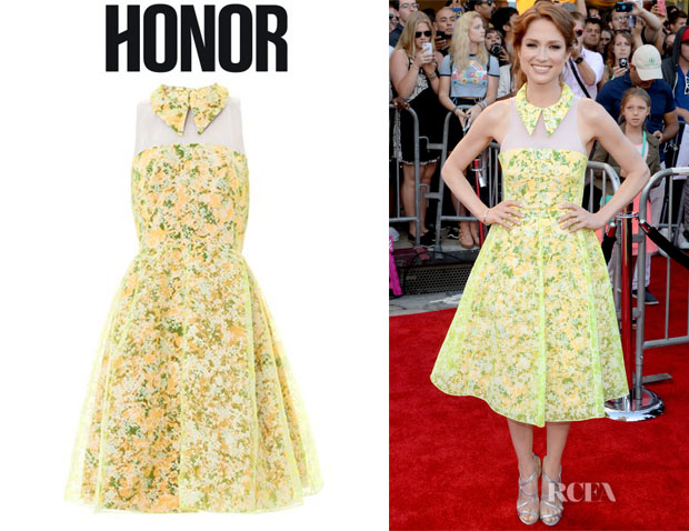 Ellie Kemper's Honor Floral Collared Halter Dress