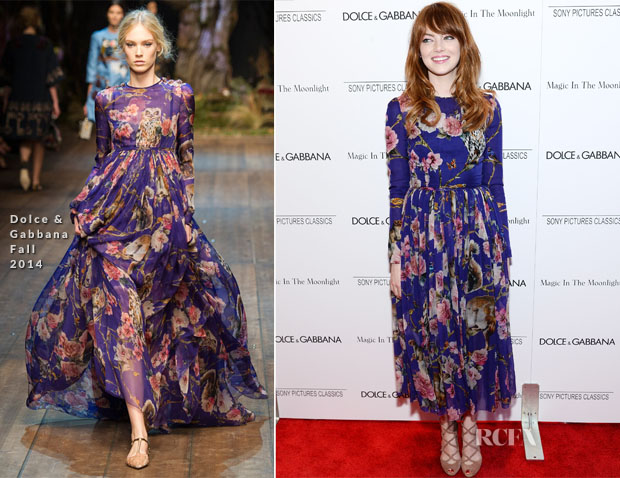 Emma Stone In Dolce & Gabbana - 'Magic In The Moonlight' New York Premiere