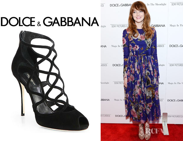 Emma Stone's Dolce & Gabbana Suede Cage Sandals