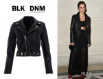 Emma Watson's BLK DNM Cropped Leather Jacket