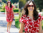 Emmy Rossum In CH Carolina Herrera - Out In Beverly Hills