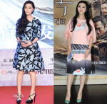 Fan Bingbing In Chris by Christopher Bu & Helen Lee - 'The White Haired Witch of Lunar Kingdom' Press Conference & Premiere