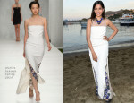 Freida Pinto In Marios Schwab - Ischia Global Film & Music Festival