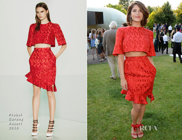 Gemma Arterton In Prabal Gurung - The Serpentine Gallery Summer Party