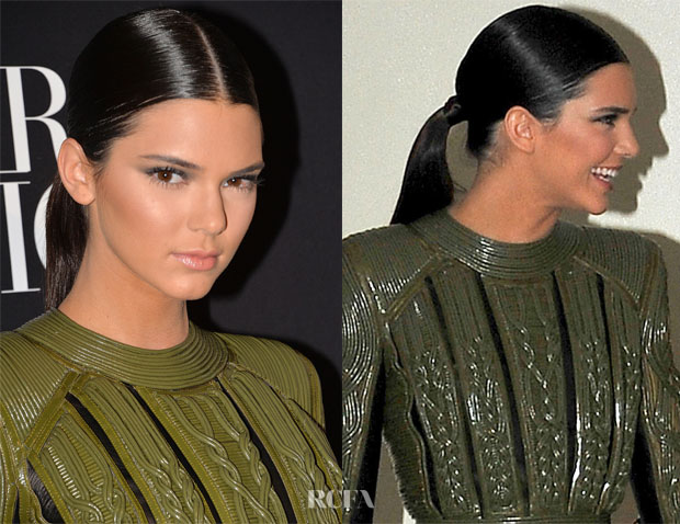Get The Look Kendall Jenner S Vogue Foundation Gala Slick Ponytail