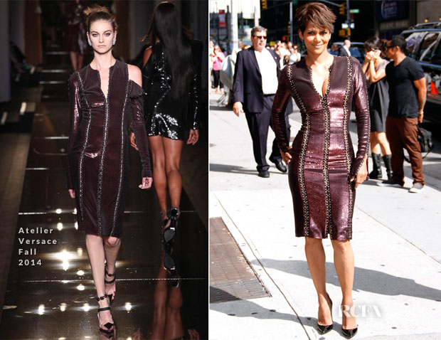 Halle Berry In Atelier Versace - Late Show With David Letterman