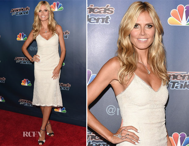 Heidi Klum In Marchesa - 'America's Got Talent' Season 9 Post-Show Red Carpet Event
