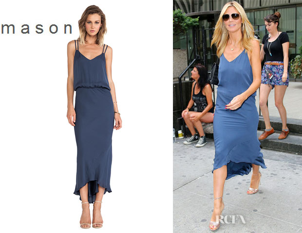 Heidi Klum's Mason by Michelle Mason Double Strap Bias Dress