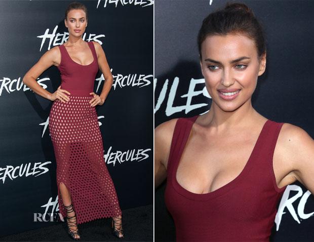 Irina Shayk In Azzedine Alaia - 'Hercules' LA Premiere