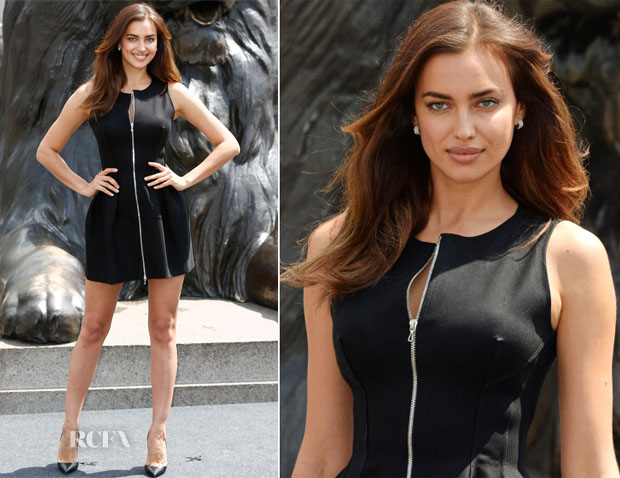 Irina Shayk In Azzedine Alaia - 'Hercules' London Photocall