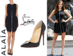 Irina Shayk's Azzedine Alaia Dress And Christian Louboutin 'So Kate' Pumps