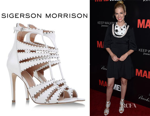 January Jones' Sigerson Morrison Sandals