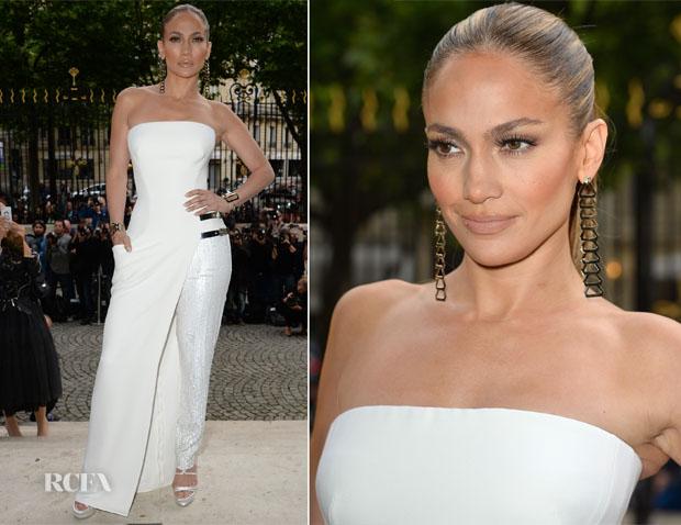 Jennifer Lopez In Atelier Versace - Atelier Versace Fall 2014 Show