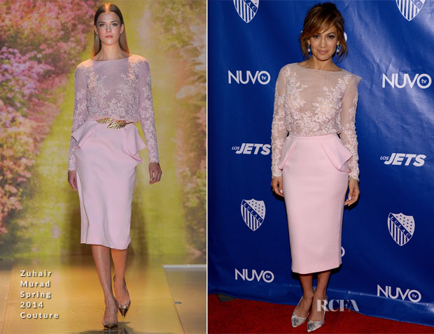 Jennifer Lopez In Zuhair Murad Couture -  LULACNUVOtv Unity Luncheon