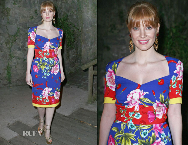 Jessica Chastain In Dolce & Gabbana - Ischia Global Film & Music Fest 2014
