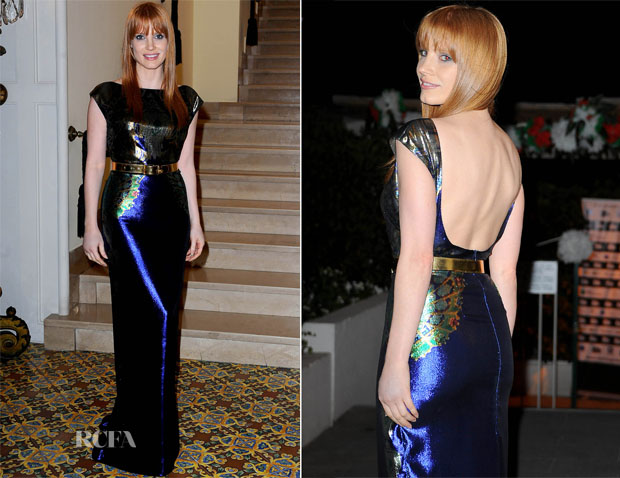 Jessica Chastain Mary Katrantzou - 'The Disappearance of Eleanor Rigby' Ischia Global Film + Music Festival Premiere