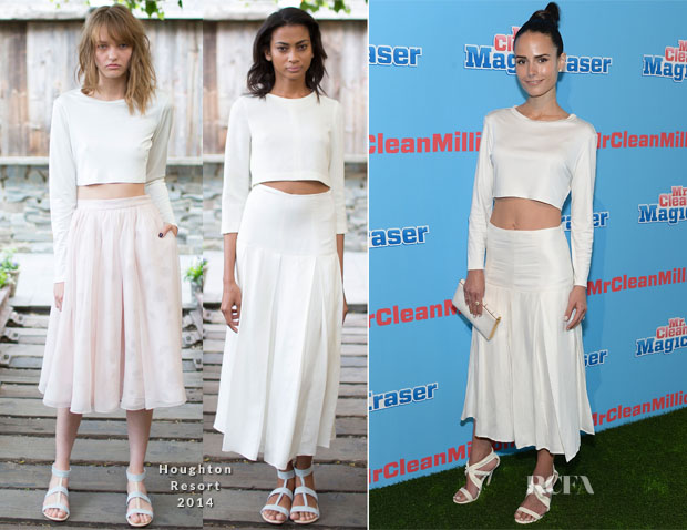 Jordana Brewster In Houghton - Mr Clean Summer Fashion Party